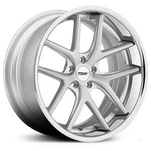 TSW Portier  Wheels Silver w/ Brushed Face & Chrome  Lip