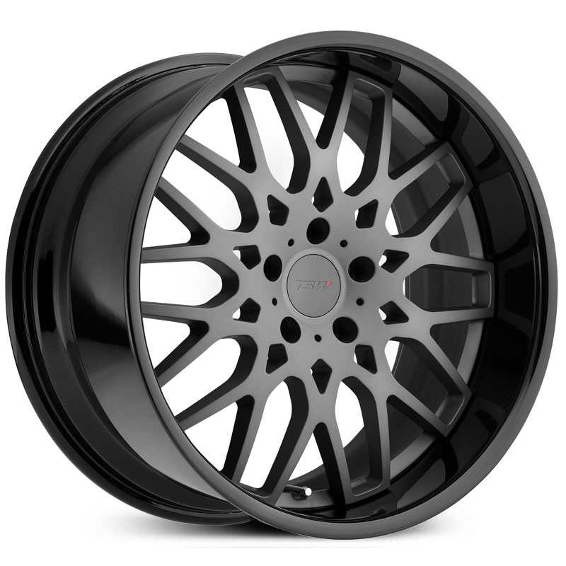 TSW Rascasse  Wheels Matte Gunmetal W/ Gloss Black Lip