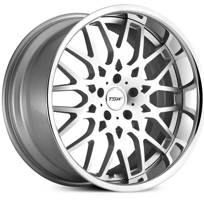 TSW Rascasse  Wheels Silver w/ Brushed Face & Chrome  Lip