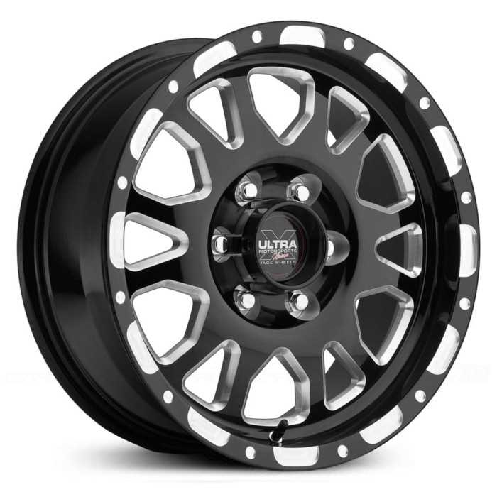 Ultra 100BM X100  Wheels Gloss Black w/ Milled Accents & Clear-Coat