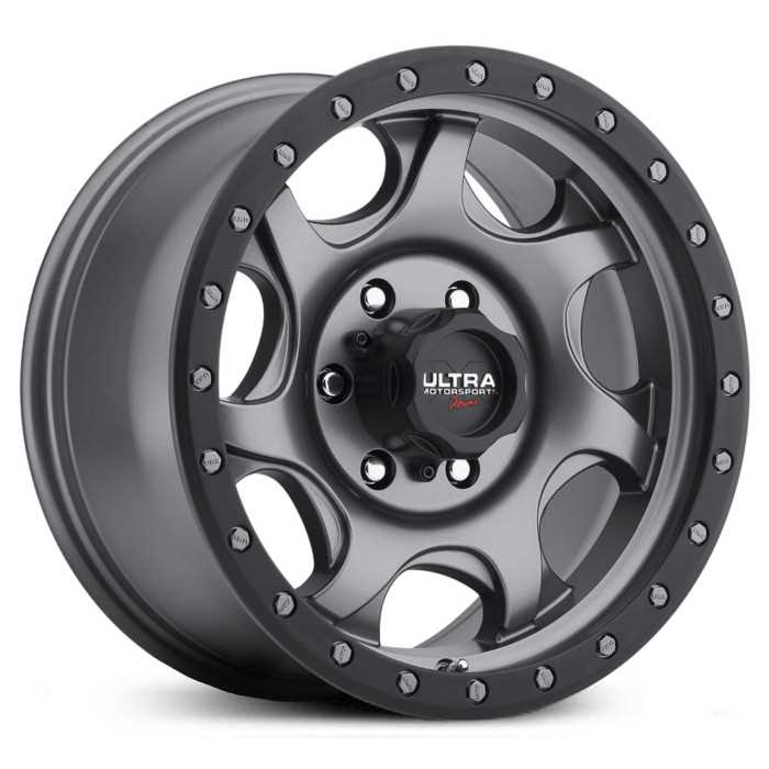 Ultra 106GN X106 Sawblade  Wheels Satin Anthracite Grey w/ Satin Black X-LOK Lip