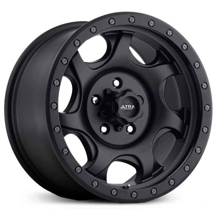 Ultra 106SB X106 Sawblade  Wheels Satin Black w/ Satin Black X-LOK Lip