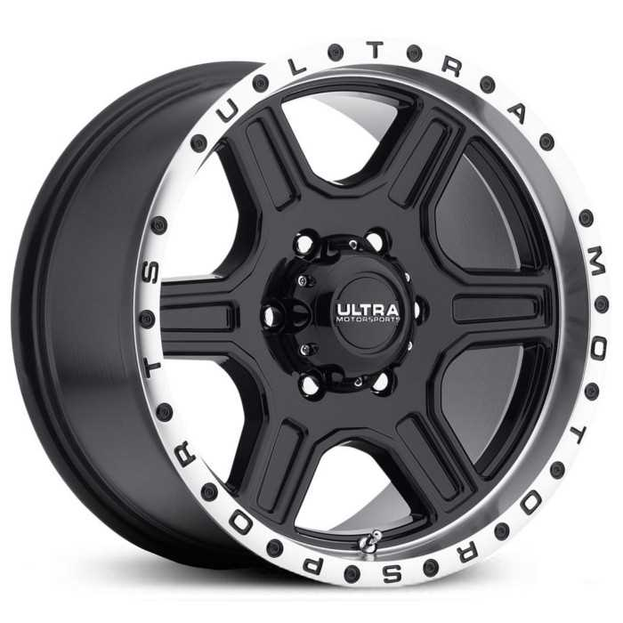 Ultra 176BK Vagabond  Wheels Gloss Black Face w/ Diamond Cut Lip