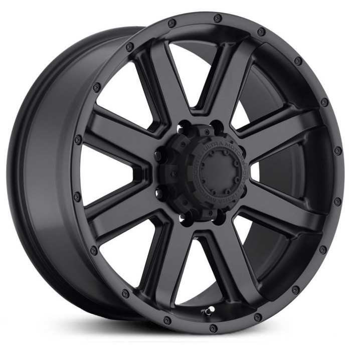 Ultra 195SB Crusher  Wheels Satin Black & Satin Clear Coat