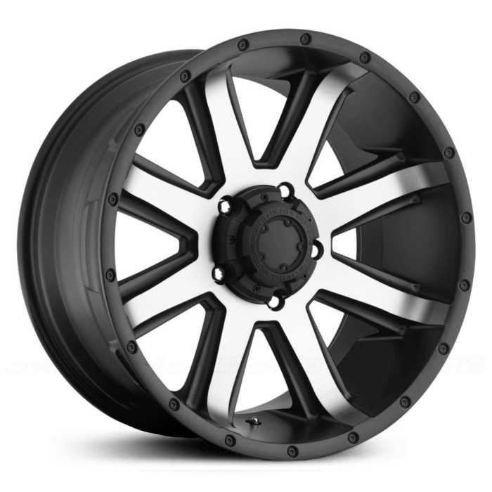 Ultra 195U Crusher  Wheels Diamond Cut Face w/ Satin Black & Satin Clear Coat