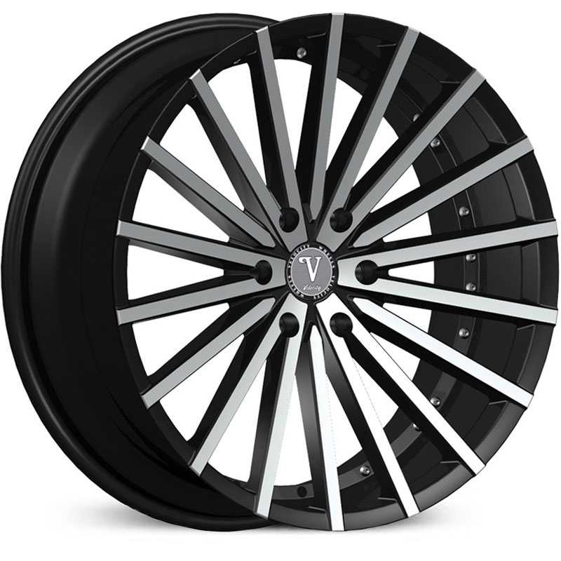 Velocity VW-17B  Wheels Black Machined