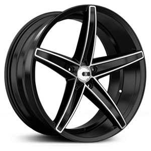 20x8.5 XO Wheels St.Thomas Matte Black w/Brushed Face RWD