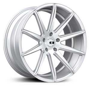 22x10.5 XO Wheels Sydney Gloss Silver w/Brushed Face/Milled Sides /w Silver caps HPO