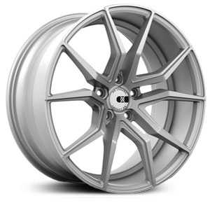 19x10 XO Wheels Verona Matte Silver w/Brushed Face MID