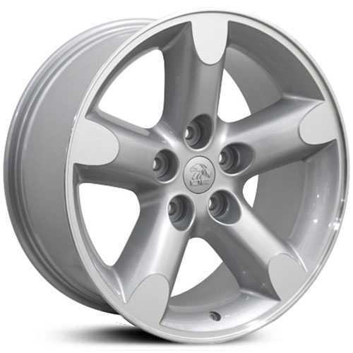 20x9 Dodge Ram 1500 DG56 Replica Silver Machined Face MID - 9471195