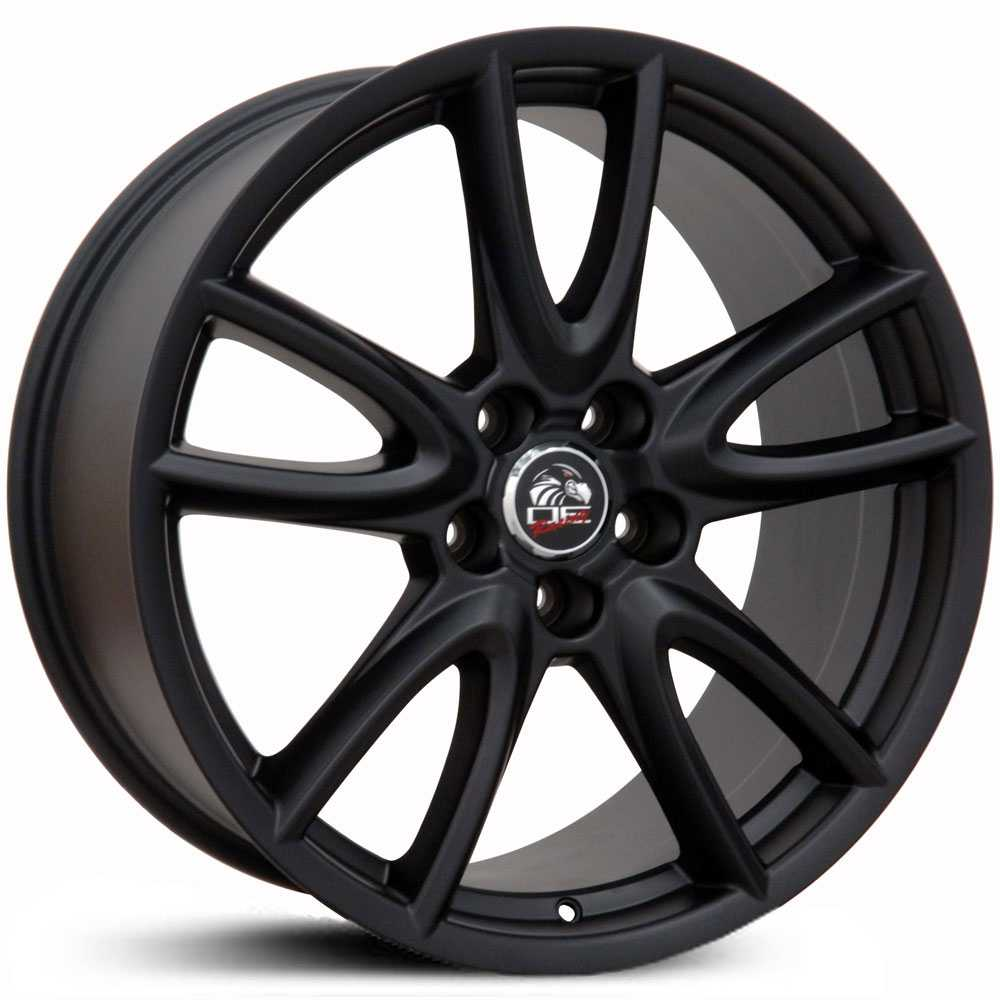 Fits Ford Mustang FR18  Wheels Matte Black