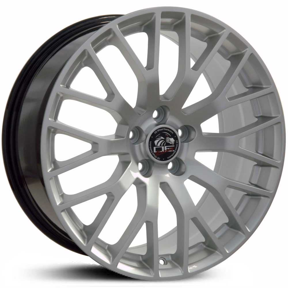Fits Ford Mustang GT FR19  Wheels Hyper Silver