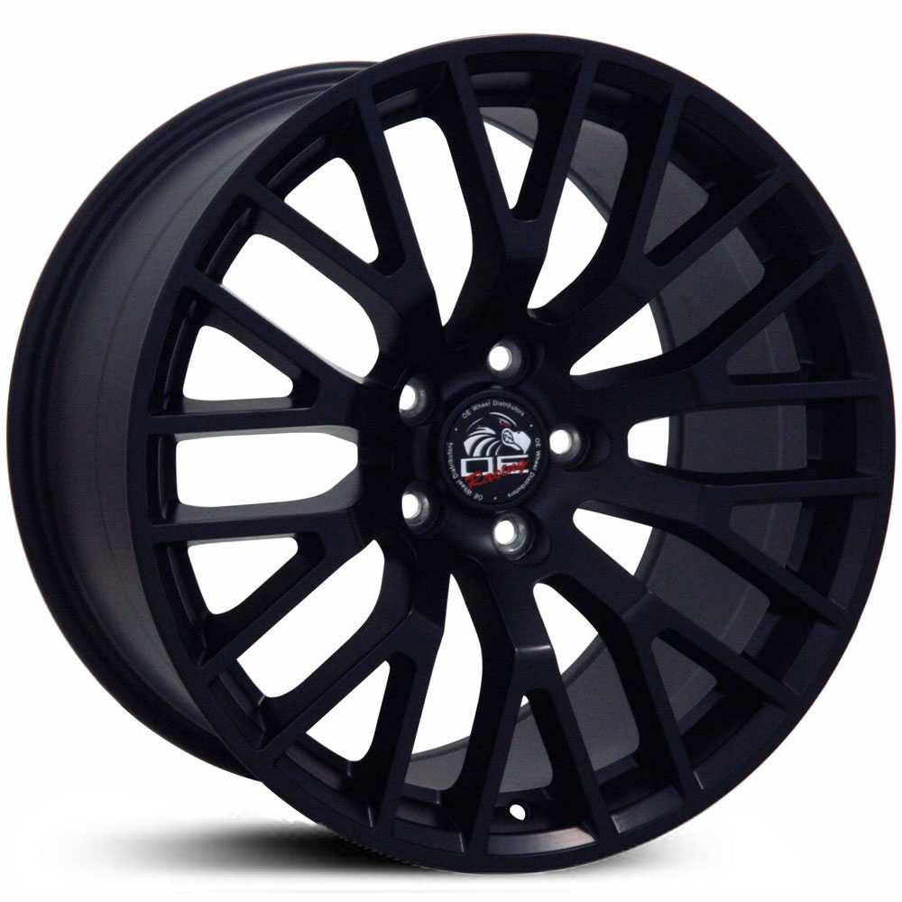 Fits Ford Mustang GT Style (FR19)  Wheels Matte Black
