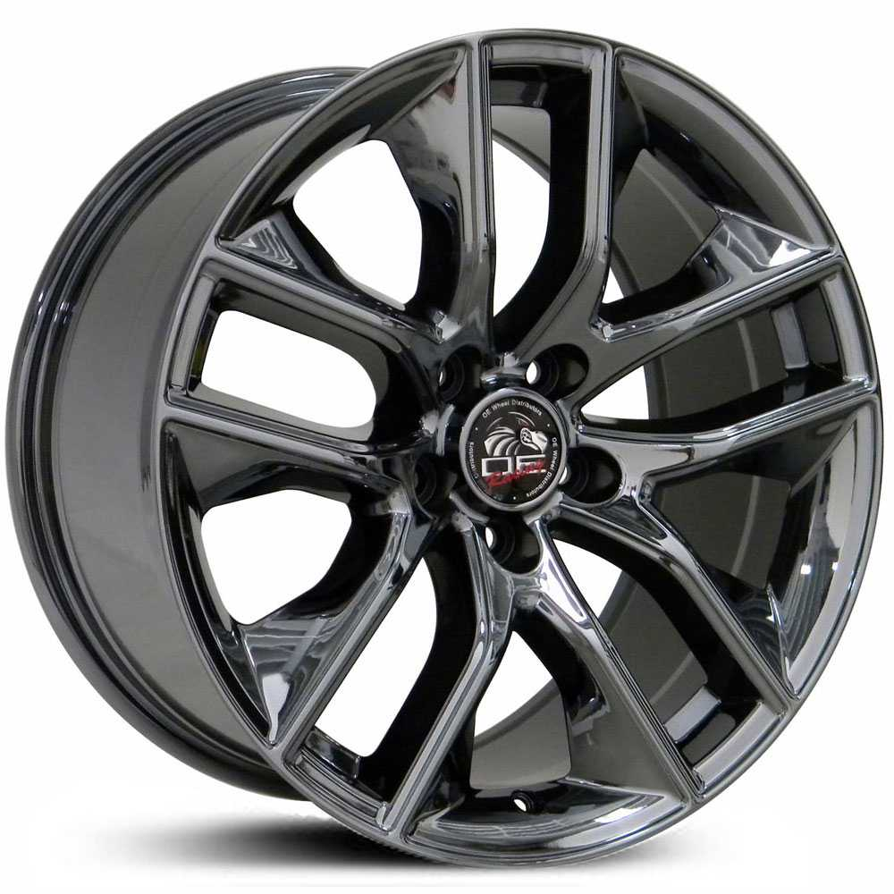 Fits Ford 2015 Mustang FR20  Wheels Black Chrome