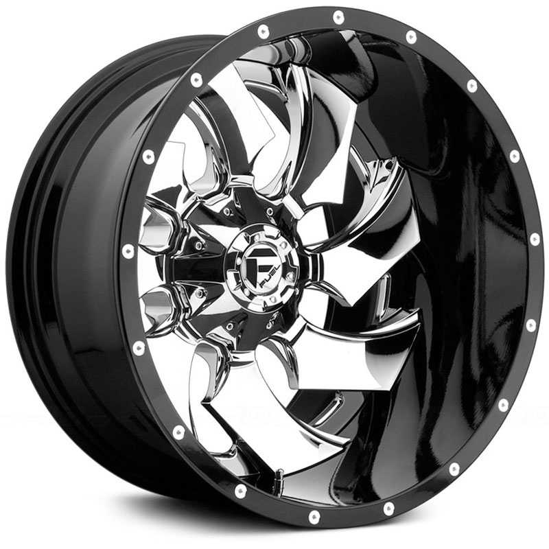 Fuel D240 Cleaver  Wheels Chrome & Gloss Black