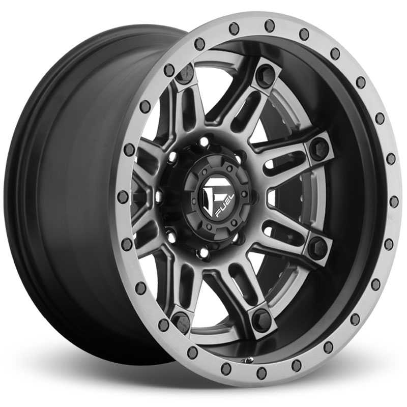 Fuel D232 Hostage II  Wheels Matte Anthracite w/ Matte Black