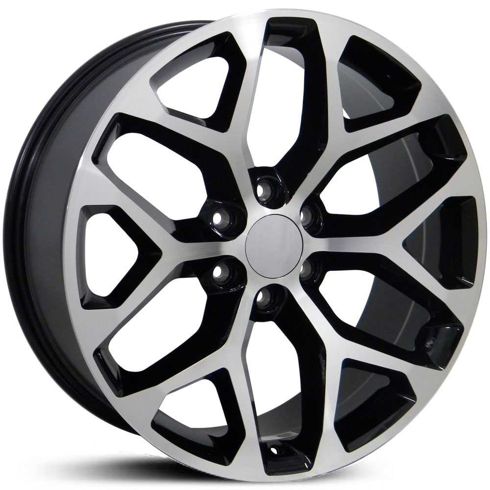 GMC Sierra 1500 Style (CV98)  Wheels Black Machined Face