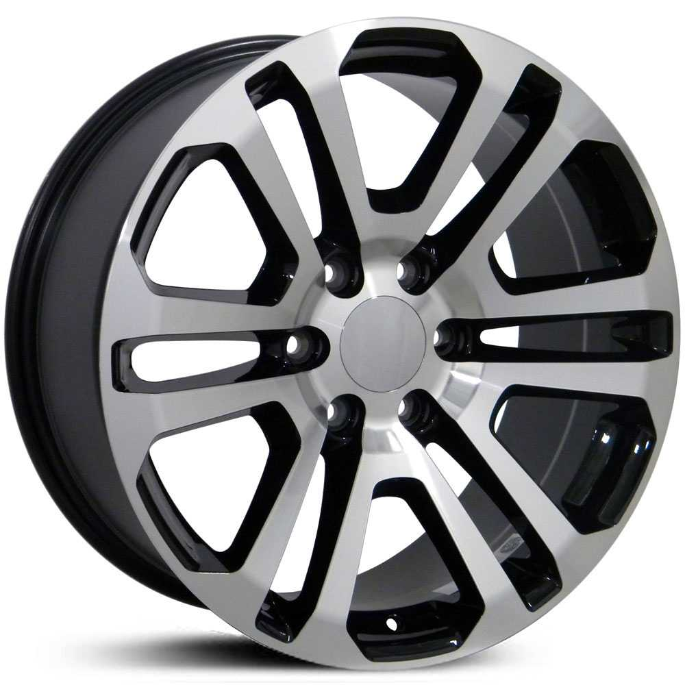 GMC Sierra 1500 Style (CV99)  Wheels Black Machined Face