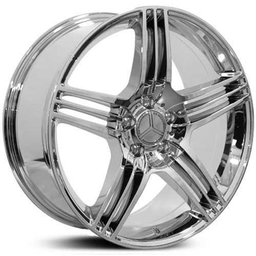 Mercedes benz cls class mb27 factory oe replica wheels rims for Chrome rims for mercedes benz
