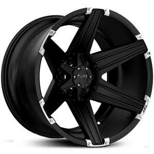 Tuff All Terrain T-12  Wheels Satin Black