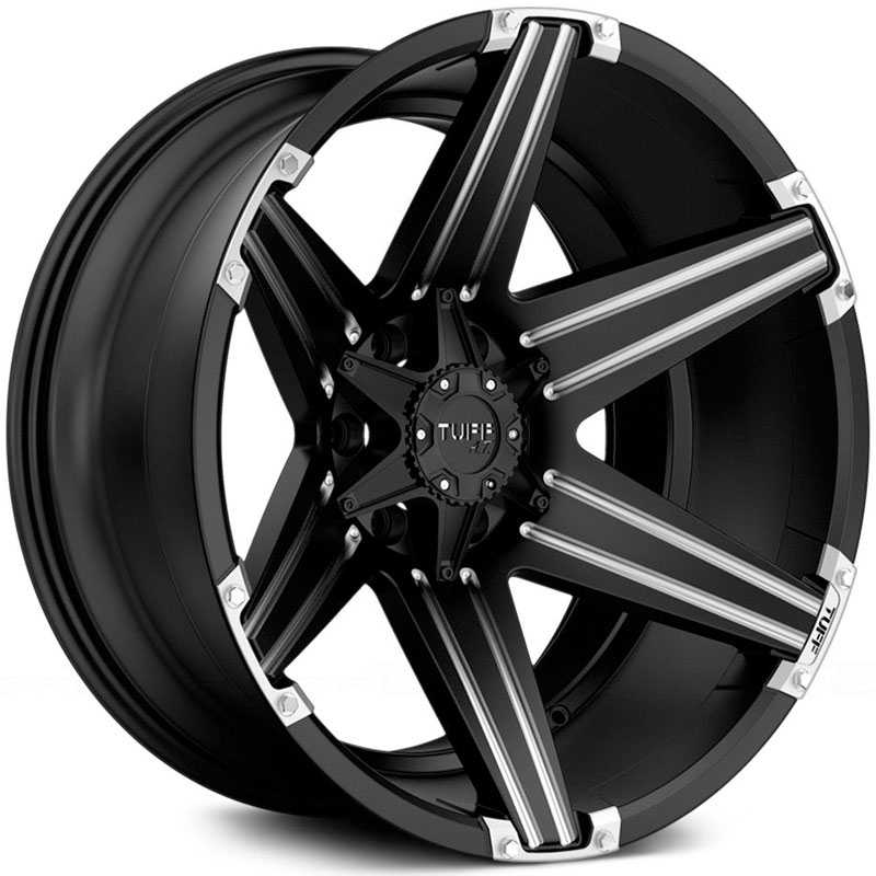 Tuff All Terrain T-12  Wheels Satin Black w/ Milling