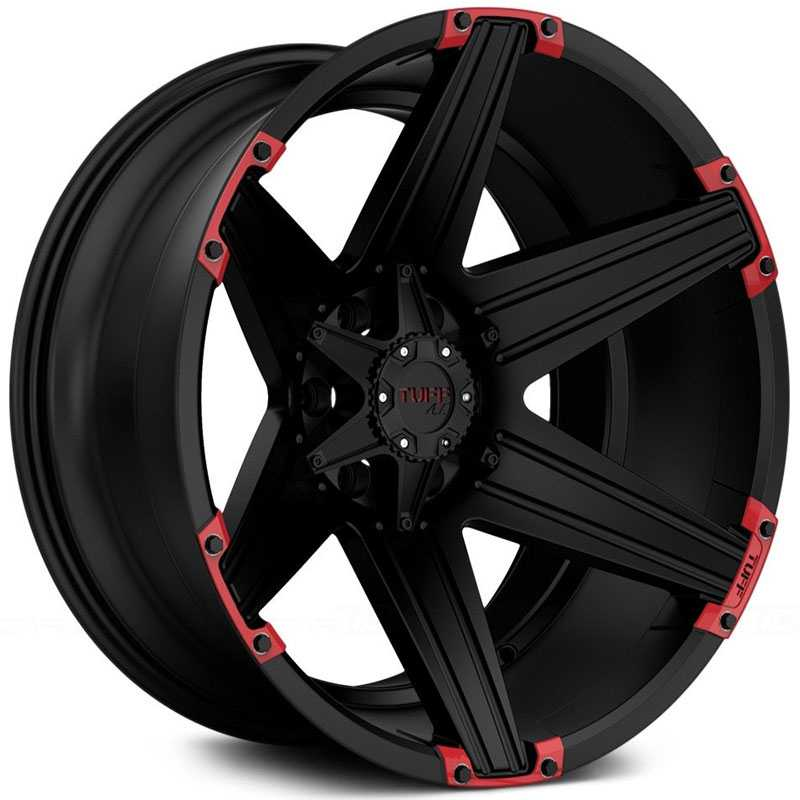 T-12 Satin Black w/ Red