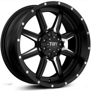 Tuff All Terrain T-14  Wheels Satin Black w/ Milling