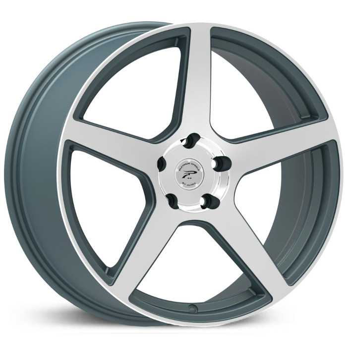 Platinum 432GN Elite  Wheels Graphite w/ Diamond Cut Face & Clear-Coat
