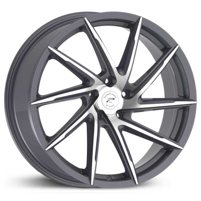Platinum 433GN Hawk  Wheels Graphite w/ Diamond Cut Face & Clear-Coat