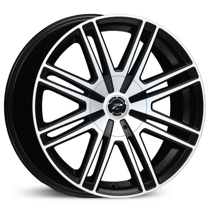 Platinum 434U Orion  Wheels Gloss Black w/ Diamond Cut Face & Clear-Coat