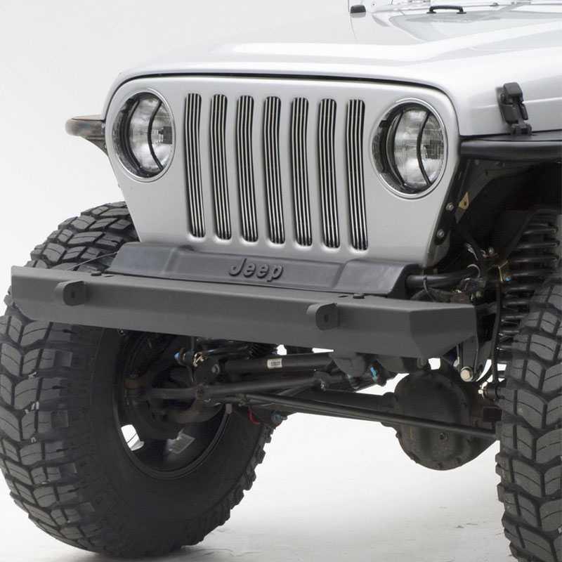 Jeep Wrangler Winch >> Smittybilt 1976-2006 Jeep Wrangler (CJ/YJ/TJ/LJ) SRC Classic Front Bumper - Black Textured ...
