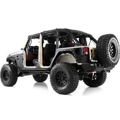 Smittybilt 76886 XRC Armor Body Cladding For 2007-2015 Jeep JK Wrangler 2-Door