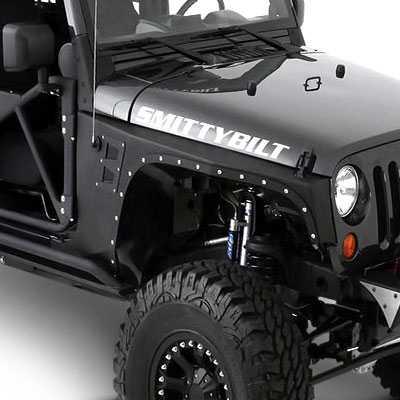 Custom Jeep Wrangler >> Smittybilt Armor XRC Front Fenders 2007-2015 Jeep Wrangler ...