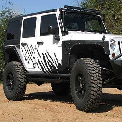 Wrangler Rock 47 >> Smittybilt Armor XRC Front Fenders 2007-2015 Jeep Wrangler ...