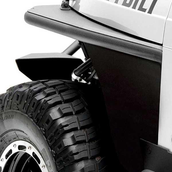 Smittybilt Armor XRC Front Tube Fenders 1987 1995 Jeep Wrangler (YJ)    76862   Black Textured
