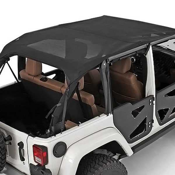 Smittybilt 94100 Mesh Extended Top Black For 2007-2009 Jeep JK Wrangler 2-Door