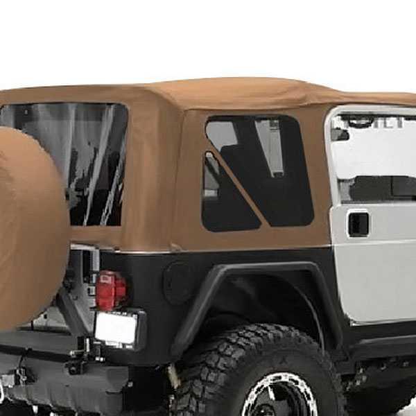 Smittybilt 1987 1995 Jeep Wrangler (YJ)   9870217   Soft Top   Oem  Replacement W/Tinted Windows   Denim Spice