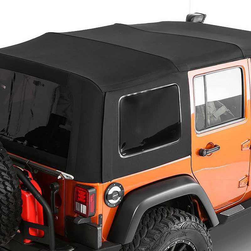 Smittybilt 2010 2015 Jeep Wrangler Jk 9076235 Soft Top Premium Canvas Oem Replacement W Tinted Windows