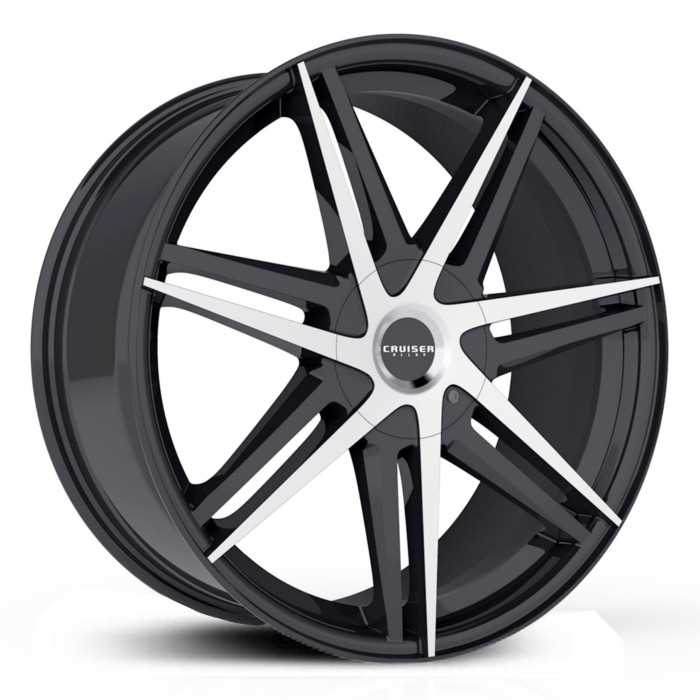 Cruiser Alloy 919MB Enigma  Wheels Gloss Black w/ Machined Accents