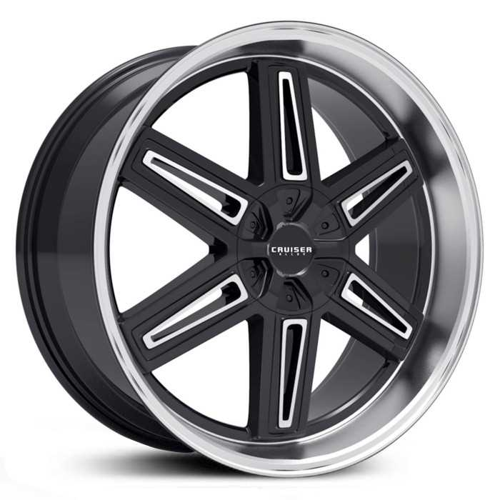 Cruiser Alloy 920MB Iconic  Wheels Gloss Black w/ Machined Lip & Spoke Accents