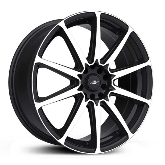 ICW Racing 215MB Banshee  Wheels Gloss Black w/ Machined Face