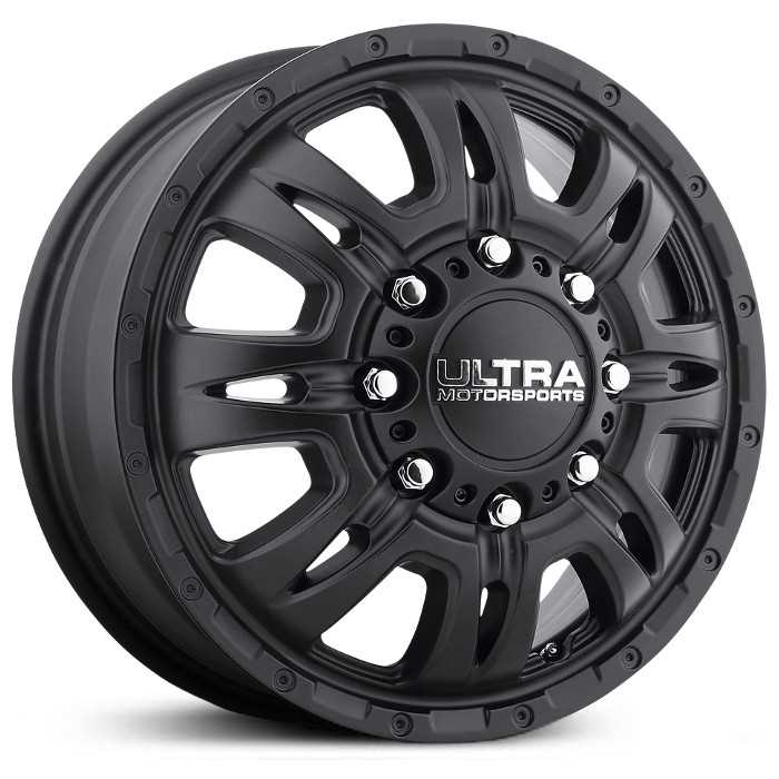 Ultra 049SB Predator Dually  Wheels Satin Black (Front)