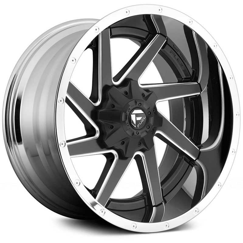 Fuel D264 Renegade  Wheels Matte Black w/ Chrome Lip