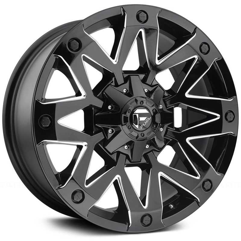 Fuel D555 Ambush  Wheels Gloss Black & Milled