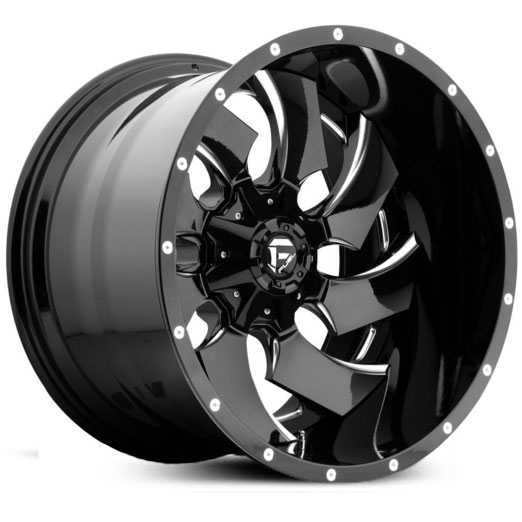 Fuel D574 Cleaver Deep Lip  Wheels Gloss Black Milled