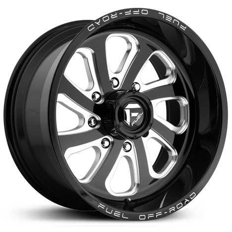 D587 Flow 8 Lug Gloss Black Milled