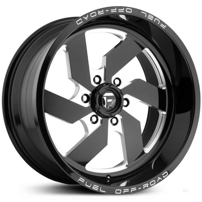 D582 Turbo 6 Lug Gloss Black Milled