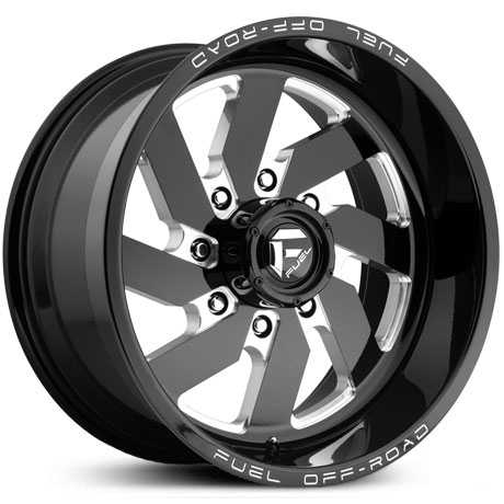 D582 Turbo 8 Lug Gloss Black Milled