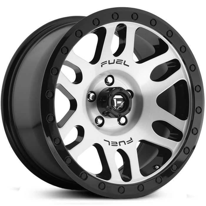 Fuel D585 Recoil  Wheels Gloss Black Machined
