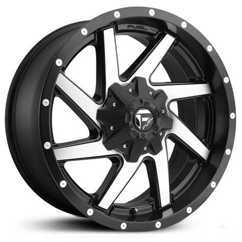 Fuel D593 Renegade  Wheels Black & Machined